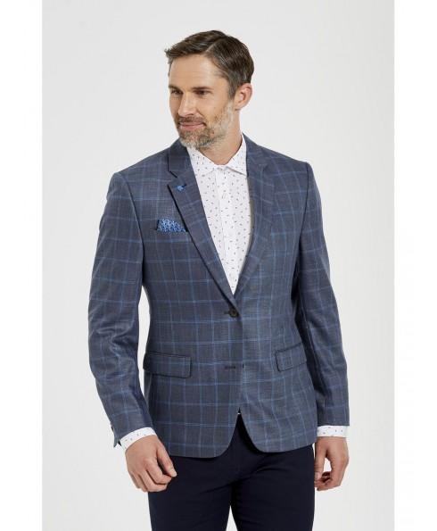 Men'S Lined Premium Pane Blazer