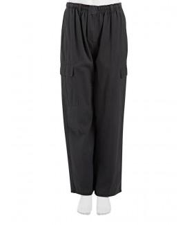 Zipper Overalls With Elastic Waist