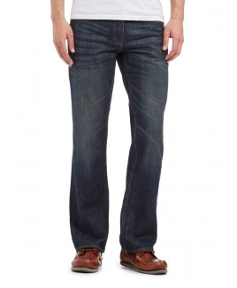 New Brown Tint Bootcut Dark Blue With A Mid Vintage Wash