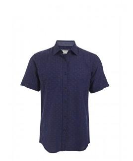 Men'S Short Sleeve Printed Soft Washed Shirt