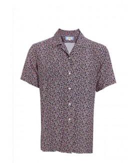 Men'S Short Sleeve Printed Rayon Shirt