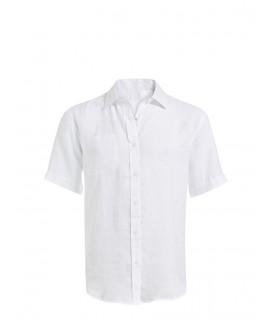 Basic Linen Short-Sleeved Shirt