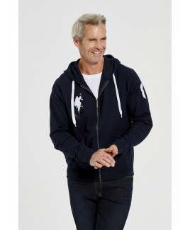 Men'S Ls French Terri Cotton Blend Zipper Hoodie