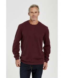 Men'S Basic Solid Tone Round Neck Pullover