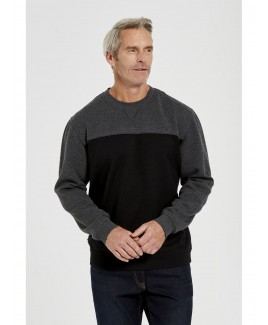 Men'S Basic Crew Neck Fleece Jumper