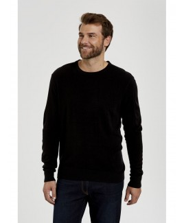 Plain Crew Neck Touch Knit