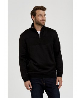 Ribbed Quarter-Zip Wool Top