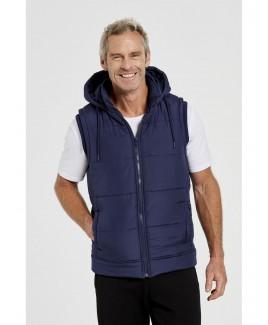 Cole Puff Vest Zip Pockets