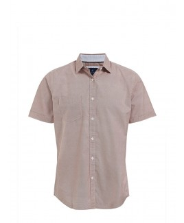 Soft-Washed Printed Short-Sleeved Men'S Shirt