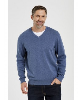 Taylor Cotton Stretch V-Neck Sweater Menswear
