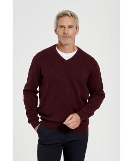Taylor Cotton Stretch V-Neck Sweater Menswear