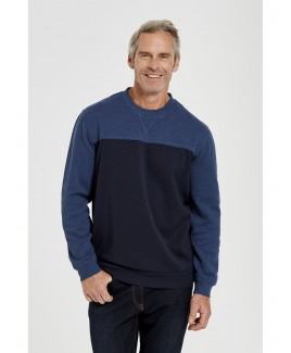 Men'S Basic Crew Neck Fleece Jumper
