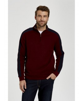 Cullen Quarter Zip French Rib Cardigan